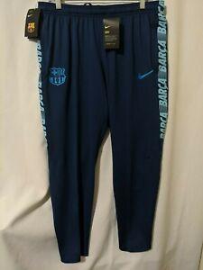 NWT Nike FC Barcelona Mens Dri-Fit Soccer Squad Slim Fit Pants Blue Sz XL