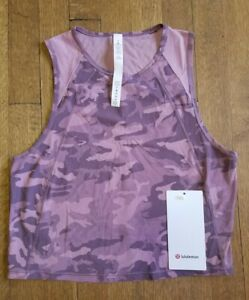 NWT Lululemon Sculpt Tank *Cropped incognito camo pink taupe size 4