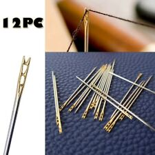 12PCS Thick Big Eye Sewing Self-Threading Needles Embroidery Hand Sewing Simple
