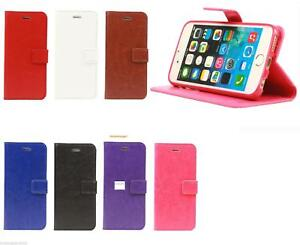 NEW PU Leather Folio Wallet Flip Cover Case for APPLE I PHONE 7 MODEL