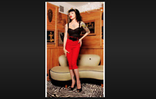 Pinupgirl Clothing Deadly Dames Vamp Top Size NEW W/ Tags Black Size S FESTIVAL
