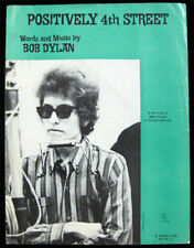 Bob Dylan RARE ORIGINAL 1965 Positively 4th Street Sheet Music  Columbia Records