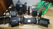 Mamiya Universal lot with Polaroid back, 100mm, 75mm lenses, finder + more