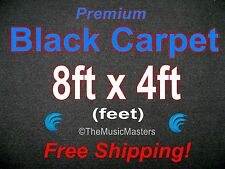 8' x 4' BLACK CARPET for Car Sub Speaker Box Cabinet Pro Road Case Trunk Liner