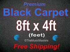 8' x 4' BLACK CARPET for Car Sub Speaker Box Cabinet Pro Road Case Trunk Liner