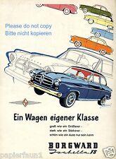 Borgward Isabella TS Reklame von 1957 Buchmann Werbung Bremen ad