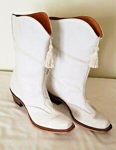 Vintage Majorette , Band  White Boots    Halloween costume.