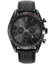 Esprit Herren Chronograph ES108811001 schwarzes Echt-Lederband 10ATM UVP 175€