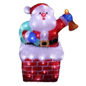 Weihnachtsmannfigur 48 cm mit 96 kaltweissen LEDs beleuchtet