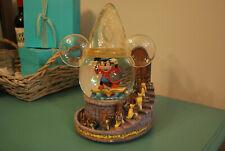 Rare Disney Mickey Mouse The Sorcerer's Apprentice Musical Snow Globe