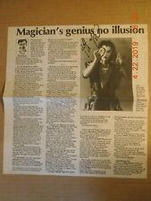 #25 JEFF MCBRIDE SIGNED NEWSPAPER PAGE MAGICIAN ILLUSION AUTOGRAPH AUTO
