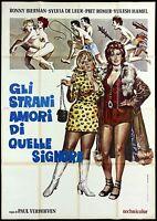 GLI STRANI AMORI DI QUELLE SIGNORE MANIFESTO CINEMA EROTICO 1971 MOVIE POSTER 4F