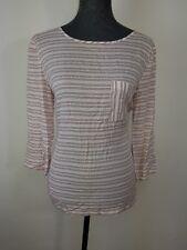 Neues Jake`S Blusenshirt Damen Bluse 3/4 Ärmel Gr. 40 Creme Streifen NEU/OVP