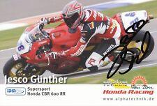 Jesco Günther  Motorrad Autogrammkarte original signiert 363737
