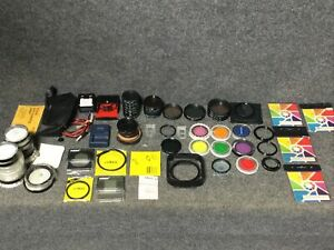 41 Camera Filters 52mm, 58mm, 62mm, 72mm, & Corkin Filters, misc also