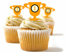✿ 24 Edible Rice Paper Cup Cake Toppings, Cake decs - Trophy ✿