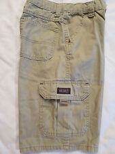 "Wrg Jeans Co Tan Khaki Cargo Shorts Young Jr Boys 12 reg    26"" X 11"""