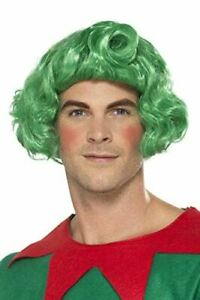 Adult Green Elf Wig Christmas Fancy Dress Party Accessory