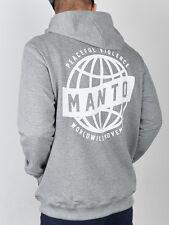 "NEW! Manto "" Movement "" Grey Hoodie Hoody BJJ No Gi Casual MMA Fight Jiu Jitsu"