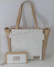 NEW Guess Kingstown Tote Handbag Purse w/Wallet Chalk Multi NWT