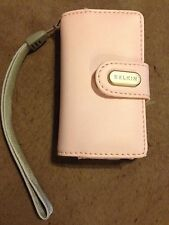 BELKIN iPod Mini Case Leather Pouch with Wrist Lanyard Strap (Snap Close Pink)