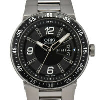 Auth ORIS WilliamsF1 Team Day&Date 635 7613 4164M Automatic Men's Watch T#93558