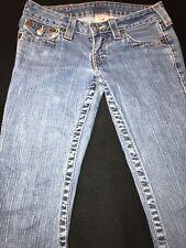 True Religion Jeans Women's Sz.25-Cotton Blend-Lt. Blue Distressed-Low Rise/Boot