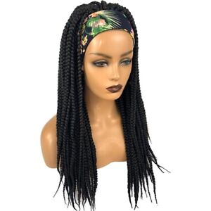 """20"""" Long Braided Wigs For Black Women Synthetic Headband Box Braids Twisted Wig"""