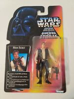 Star Wars The Power Of The Force Tri-Logo Han Solo Kenner 1995 Red Card
