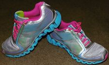 Womens Reebok Zig Lite Running Shoes Size 5 6 PINK SILVER BLUE GREEN NICE CLEAN