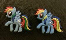 2 x My Little Pony Rainbow Dash Shoe Charms Pvc Rubber Holey Clogs Shoes