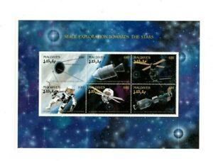 VINTAGE CLASSICS - MALDIVES 9614 - Space Exploration Sheetlet Of 6 - MNH