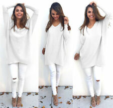 Womens Long Sleeve Sweater Blouse Ladies Sweatshirt Dress Jumper Pullover Tops