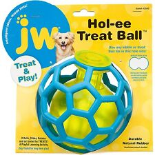 Dog Puppy Activity Play Dispenser Toy - Natural Rubber - JW Hol-ee Treat Ball