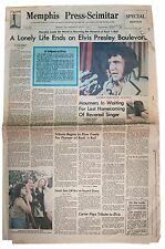 Elvis Presley Death Newspaper Memphis Graceland 1977