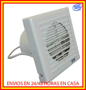 Extractor de aire baño cocina anti-retorno 15/20.8 cm ventilador silencioso
