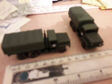 BUILT PAINTED 1/100th DIECAST WW2 AMERICAN ALLIED TRUCKS
