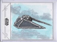 "Star Wars Rogue One Sketch Card by Anil Sharma ""Space Hindu"" TIE Striker SKC"