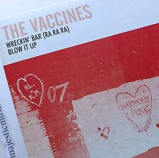 "LIMITED 500 THE VACCINES FIRST RECORD DEBUT SINGLE WRECKIN' BAR 7"" VINYL NM RARE"