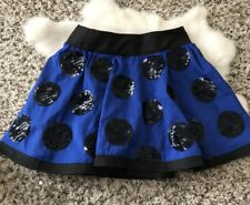 Justice Girl Mini Skirt Sequin Polka Dot Sz 10