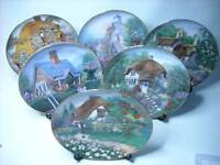 Choose ONE OR MORE Plates LILLIPUT LANE COTTAGE Franklin Mint - Cottages Plate
