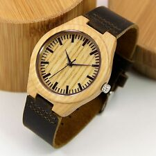 Mens Ash Wood Watch with Bamboo Box Gift to Him
