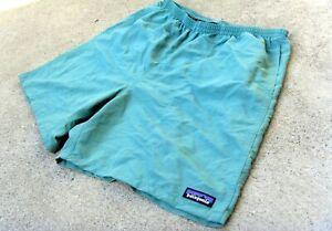 PATAGONIA BAGGIES SHORTS MEN'S LARGE Beryl Green swim shorts