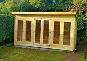 14x8ft penthouse Summerhouse tanalised shed