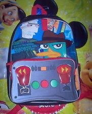 School Backpack Book Bag Disney Phineas Ferb Perry Agent P Dr. Doofenshmirtz New
