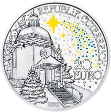Oesterreich 20 Euro 2018 Stille Nacht Silbermünze 200 Jahre Heilige Lieder