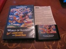 World of Illusion Starring Mickey Mouse & Donald Duck Sega Genesis