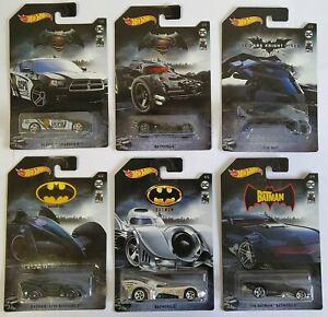 Batman 80 Years Hot Wheels GDG83 Set 6 Diecast Batmobile The Bat
