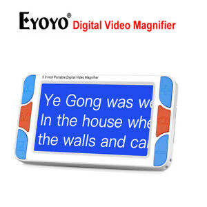 Eyoyo 5.0 Inch Portable Electronic Video Magnifier Reading Read Tools Zoom Rate!