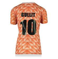 Ruud Gullit atrás firmado Países Bajos 1988 Home Jersey Camisa autógrafo